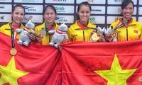 คณะนักกีฬาเวียดนามคว้าเหรียญทองแรกในการแข่งขันกีฬาเอเชียนเกมส์