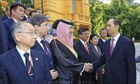 ประธานประเทศเวียดนามให้การต้อนรับหัวหน้าคณะผู้แทนที่เข้าร่วมการประชุม ASOSAI 14