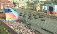 พิธีเตรียมความพร้อมให้แก่การเดินสวนสนามเพื่อรำลึกชัยชนะเหนือลัทธิฟาสซิสต์ในรัสเซีย