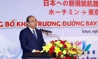 นายกรัฐมนตรีเข้าร่วมพิธีเปิดเส้นทางบินใหม่ระหว่างเวียดนามกับญี่ปุ่น