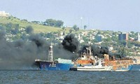 4 Vietnamese sailors survived boat fire in Uruguay