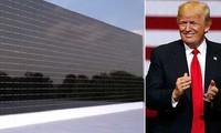 Donald Trump talks up solar panels on wall between Mexico