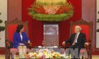 Party leader receives new Cuban Ambassador