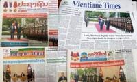 Lao media highlight Vietnamese Party leader, President Nguyen Phu Trong's visit