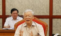 Party leader, President Nguyen Phu Trong chairs Politburo meeting