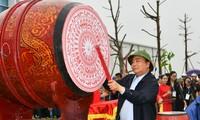 阮春福出席义安省植树节启动仪式