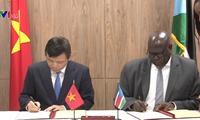 越南与南苏丹建立外交关系