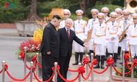 朝鲜领导人金正恩对越南进行正式友好访问