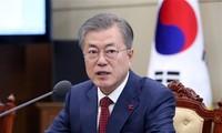 """美朝首脑峰会:韩国总统评价这是""""有意义""""的进展"""