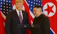美国总统特朗普愿与朝鲜领导人金正恩举行会晤