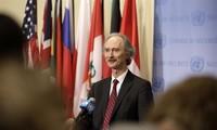 UN special envoy reiterates political solution to conflict in Syria