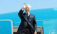 Máximo líder político de Vietnam inicia gira por Indonesia y Myanmar
