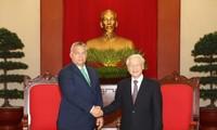 Líder partidista de Vietnam se reúne con el premier húngaro
