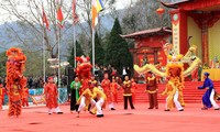 El festival de juegos populares de la aldea de Ngoc Tan