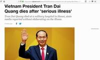 Medios de comunicación internacionales expresan condolencias por fallecimiento del presidente vietnamita