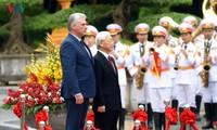 Presidente cubano Miguel Díaz-Canel inicia su primera visita a Vietnam