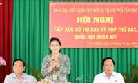 Dialoga presidenta parlamentaria de Vietnam con electores de Can Tho