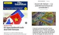 Prensa europea destaca la firma del acuerdo de libre comercio con Vietnam