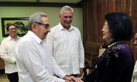 Máximos dirigentes cubanos reciben a vicepresidenta de Vietnam