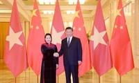 Dirigente parlamentaria vietnamita dialoga con presidente chino