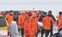 จำนวนผู้เสียชีวิตจากเหตุเรือเฟอร์รีเซวอลของสาธารณรัฐเกาหลีอัปปางเพิ่มขึ้นเป็น 159 คน
