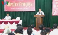 ประธานประเทศพบปะกับผู้มีสิทธิ์เลือกตั้งนครโฮจิมินห์