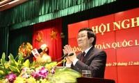 ประธานประเทศ เจืองเติ๊นซาง เข้าร่วมการประชุมตำรวจทั่วประเทศ