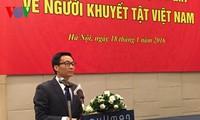 รองนายกรัฐมนตรี หวูดึ๊กดาม เข้าร่วมพิธีเปิดตัวคณะกรรมการแห่งชาติเกี่ยวกับคนพิการเวียดนาม