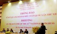 ประกาศผลการประชุมสมัชชาใหญ่พรรคสมัยที่ 12 ถึงคณะทูตานุทูตและองค์การระหว่างประเทศประจำเวียดนาม