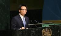 รองนายกรัฐมนตรี หวูดึ๊กดามเข้าร่วมการประชุมสุดยอดของสหประชาชาติเกี่ยวกับการป้องกันและต่อต้านโรคเอดส์
