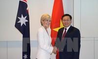 รองนายกรัฐมนตรี เวืองดิ่งเหวะพบปะกับรัฐมนตรีต่างประเทศออสเตรเลีย