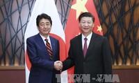 ผู้นำจีน ญี่ปุ่นและสาธารณรัฐเกาหลีพบปะนอกรอบการประชุมเอเปก 2017
