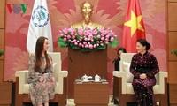 ประธานสภาแห่งชาติให้การต้อนรับผู้นำและอดีตผู้นำของไอพียู