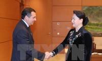 ประธานสภาแห่งชาติเวียดนามให้การต้อนรับผู้นำของเม็กซิโก กัมพูชาและชิลี
