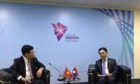 รองนายกรัฐมนตรี ฝ่ามบิ่งมิงห์ พบปะทวิภาคีนอกรอบการประชุมรัฐมนตรีต่างประเทศอาเซียนครั้งที่ 51