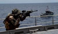 ประเทศต่างๆในเอเชียและสหรัฐฟื้นฟูการฝึกซ้อมความปลอดภัยในการเดินเรือ
