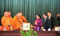 ผู้บริหารนครโฮจิมินห์ให้การต้อนรับคณะผู้แทนพุทธศาสนาของประเทศไทย