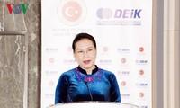 ประธานสภาแห่งชาติ เหงียนถิกิมเงิน พบปะกับประธานรัฐสภาสาธารณรัฐเกาหลีและประธานสภาล่างเบลารุส