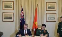 เวียดนาม-ออสเตรเลียลงนามแถลงการณ์วิสัยทัศน์ร่วมเกี่ยวกับการผลักดันความร่วมมือด้านกลาโหม
