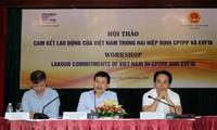 เวียดนามปฏิบัติคำมั่นเกี่ยวกับแรงงานที่ถูกระบุในซีพีทีพีพีและอีวีเอฟทีเอ