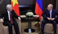 ประธานาธิบดีรัสเซียส่งโทรเลขอวยพรถึงเลขาธิการใหญ่พรรค ประธานประเทศ เหงียนฟู้จ่องในโอกาสปีใหม่
