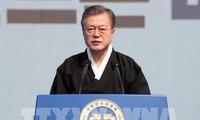 สหรัฐส่งสาส์นถึงสาธารณรัฐประชาธิปไตยประชาชนเกาหลีผ่านประธานาธิบดีสาธารณรัฐเกาหลี