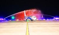 สนามบินนานาชาติ เวินด่น จังหวัดกว๋างนิงห์ ต้อนรับเที่ยวบินระหว่างประเทศเที่ยวแรก