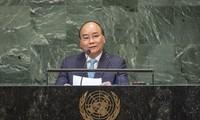 """""""หุ้นส่วนเพื่อสันติภาพอย่างยั่งยืน-เวียดนามพร้อมมีส่วนร่วมอย่างเข้มแข็งต่อความพยายามของนานาชาติเพื่อสันติภาพ ความมั่นคง การพัฒนาและความก้าวหน้า"""""""