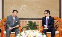 รองนายกรัฐมนตรี หวูดึ๊กดาม ให้การต้อนรับทูตพิเศษเวียดนาม-  ญี่ปุ่น