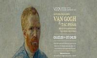 Digital versions of Van Gogh's paintings on display