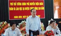 Vize-Premierminister Nhan tagt mit Behörden der Provinz Cao Bang