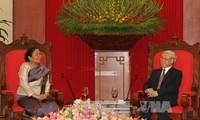KPV-Generalsekretär Trong empfängt die Vorsitzende der laotischen Frauenunion