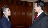 Premierminister Nguyen Tan Dung empfängt Umweltministerin Südkoreas