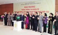 Eröffnung der Website für 132. IPU-Vollversammlung